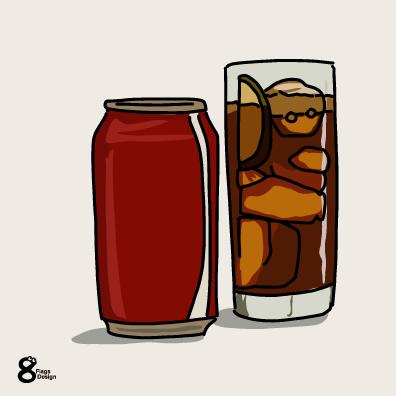 炭酸の缶ジュースのキャッチ画像