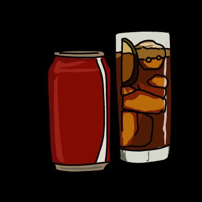 炭酸の缶ジュースドクターペッパー