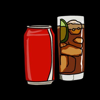 炭酸の缶ジュースコーラ