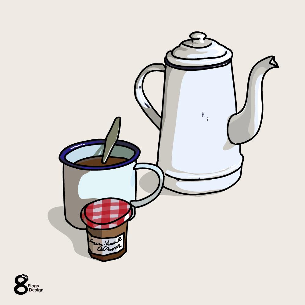 ポットとカップのキャッチ画像