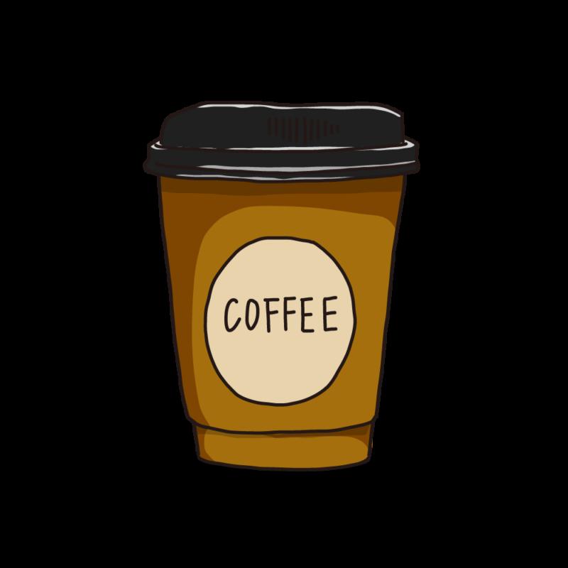 コーヒーカップ(テイクアウト)ブラウン