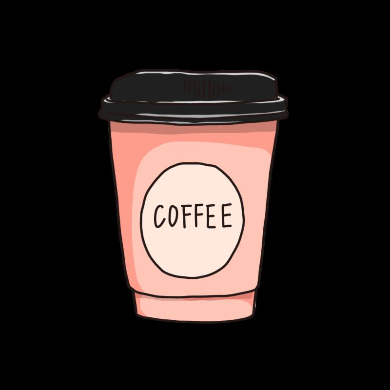 コーヒーカップ(テイクアウト)ピンク