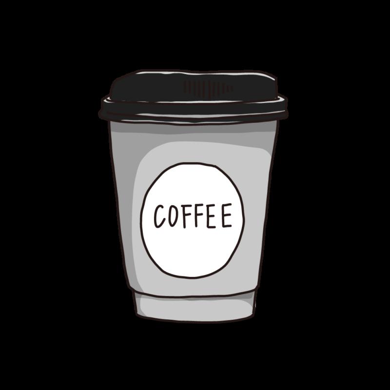 コーヒーカップ(テイクアウト)モノクロ