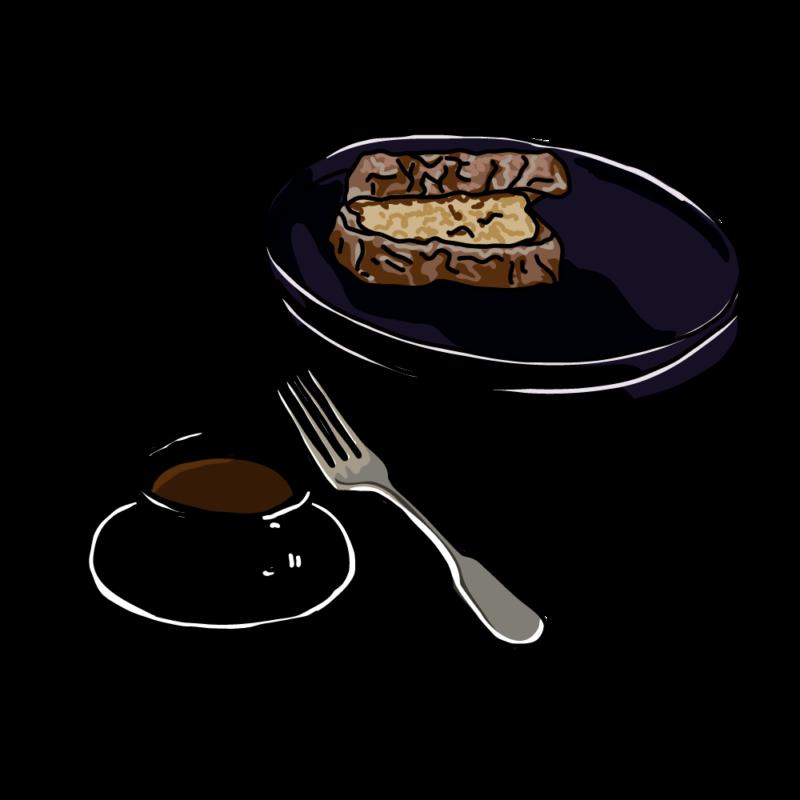 サンドウィッチとコーヒーブラック