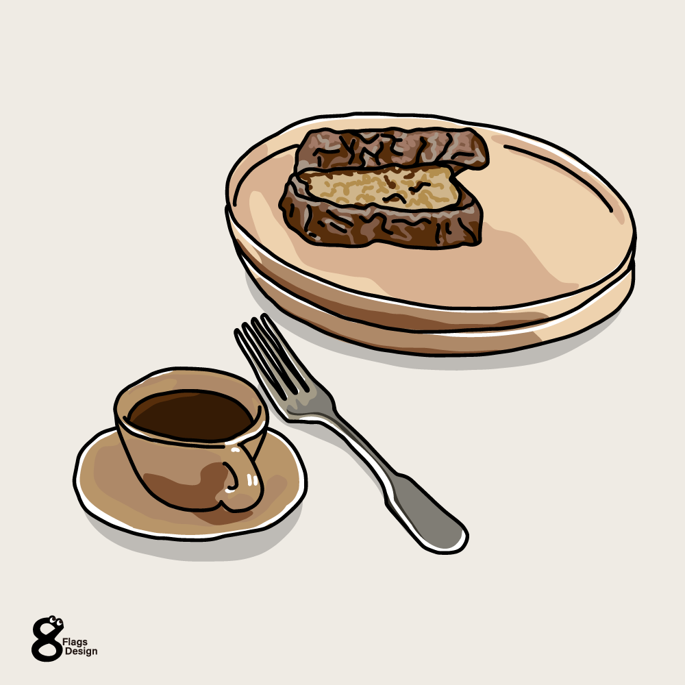 サンドウィッチとコーヒーのキャッチ画像