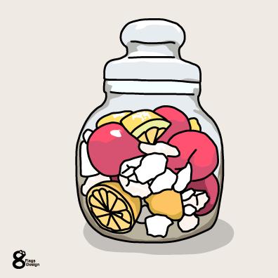 フルーツのシロップ漬けのキャッチ画像