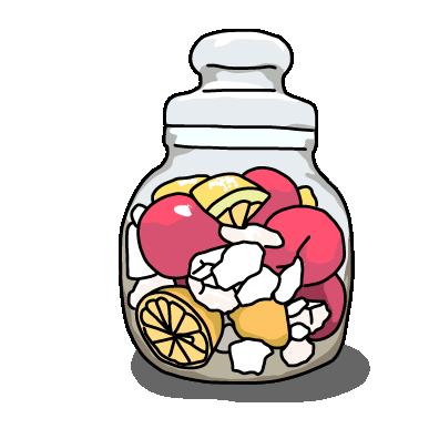フルーツのシロップ漬けノーマル