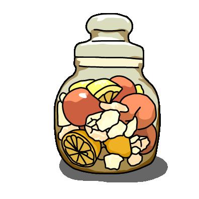 フルーツのシロップ漬けイエロー