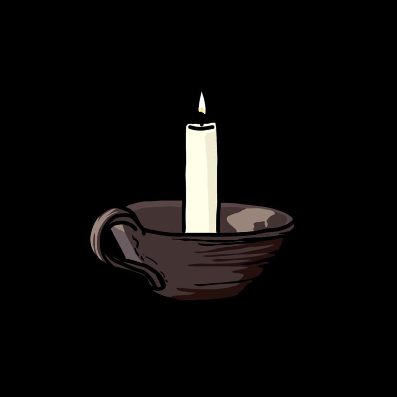 キャンドルこげ茶
