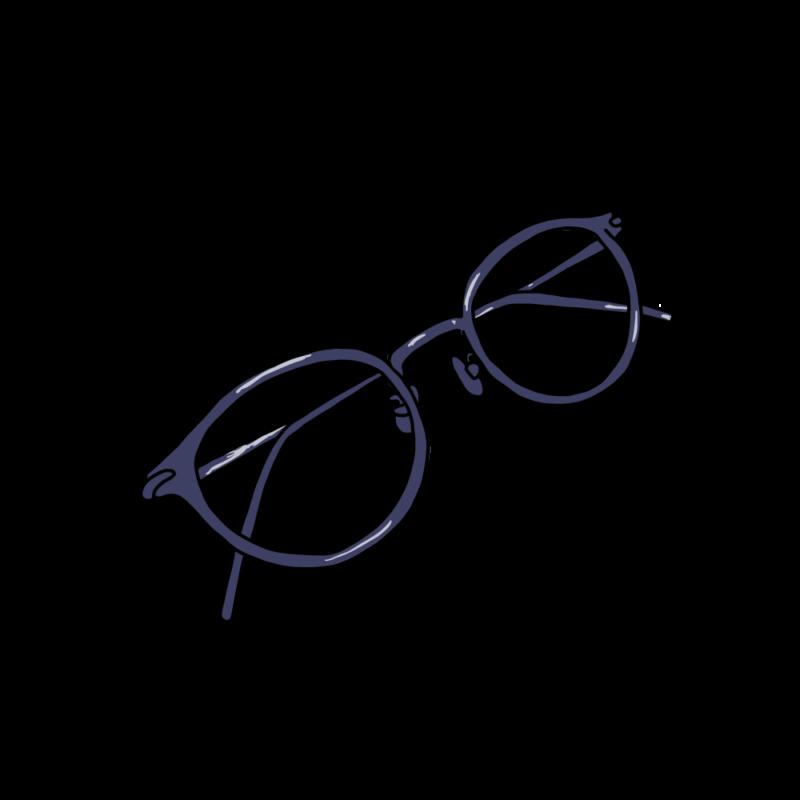 メガネブルー