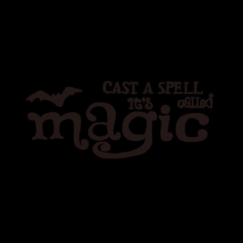魔法を唱えるブラック