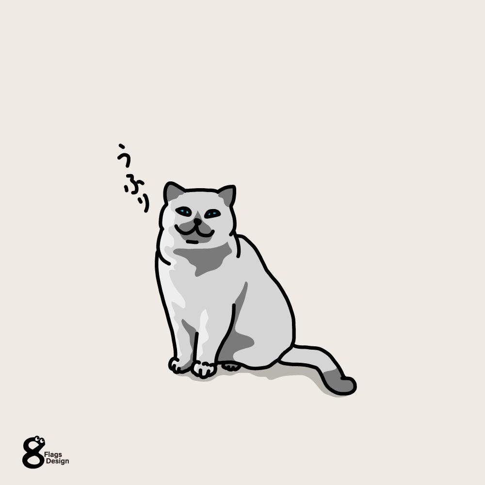ほほ笑むネコのキャッチ画像