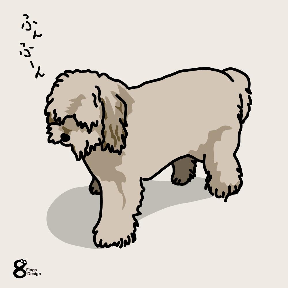 ごきげんさんのムク犬のキャッチ画像