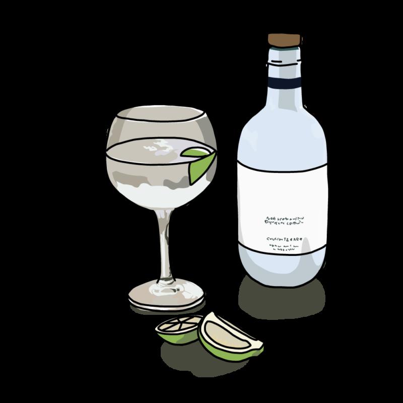 お酒とグラスクリア