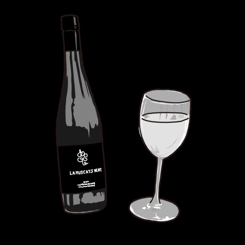 ワインモノクロ
