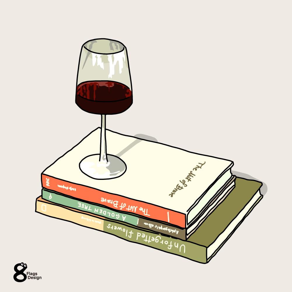 ワインと本のキャッチ画像