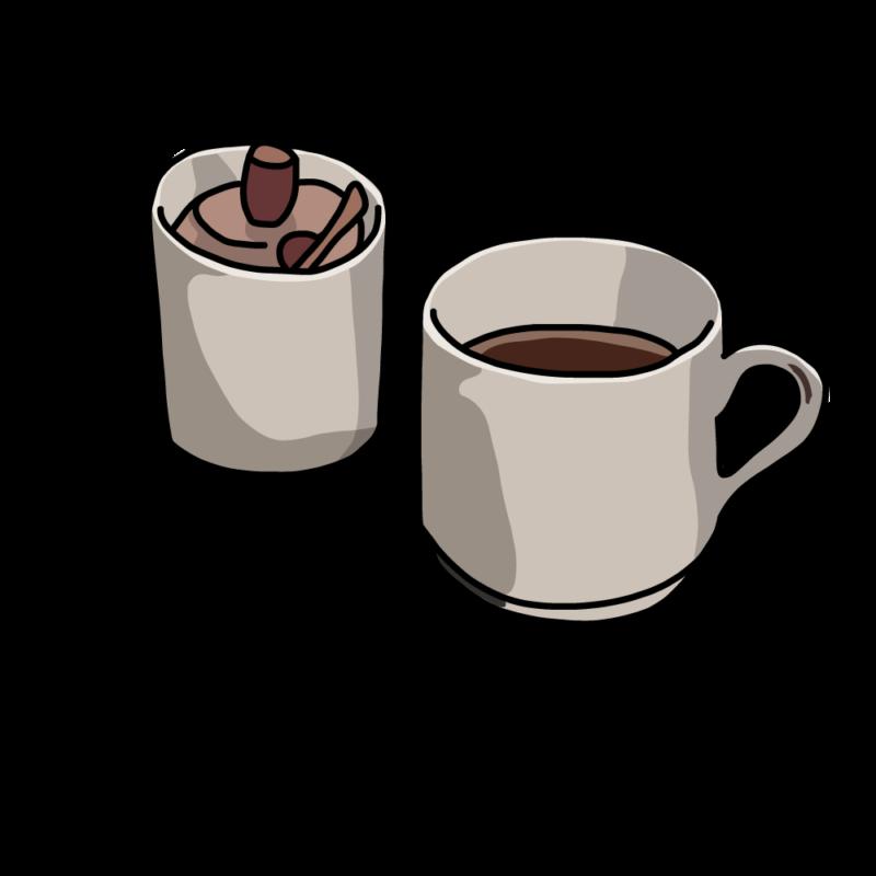 コーヒーとシュガーポットベージュ