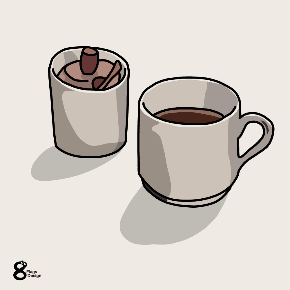 コーヒーとシュガーポットのキャッチ画像