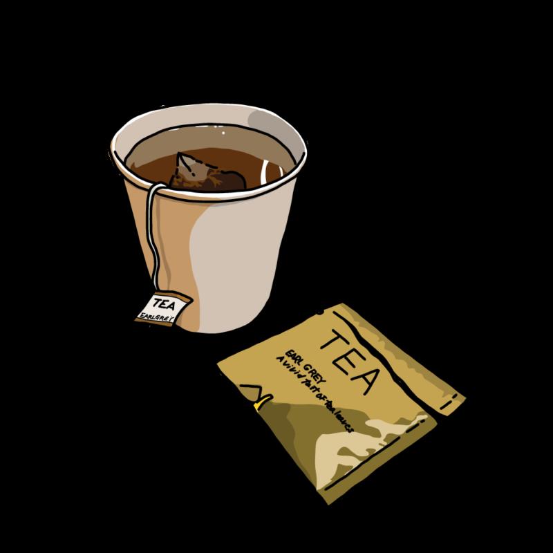 紅茶のカップブラウン