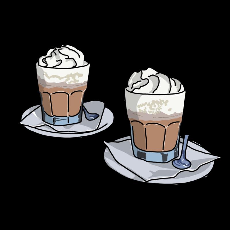 コーヒーラテブルー