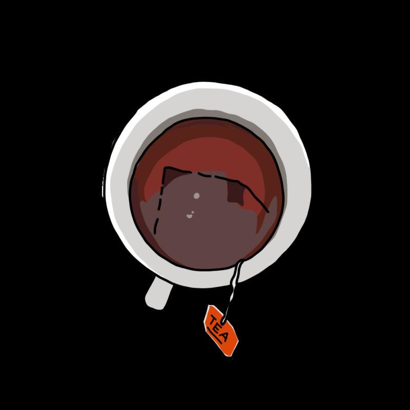 紅茶のカップ白