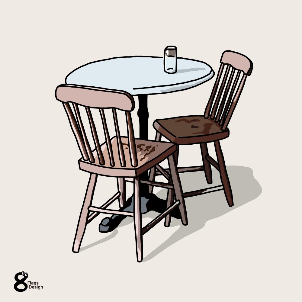 テーブルと椅子のキャッチ画像