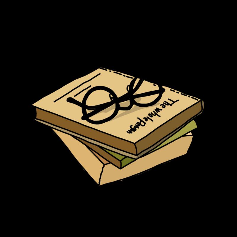 メガネと本イエロー