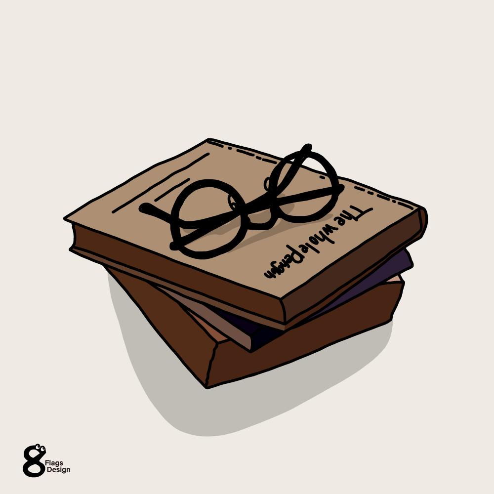 メガネと本のキャッチ画像