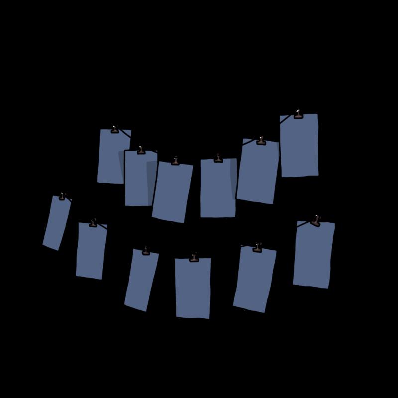 メモ(ガーランド)ブルー