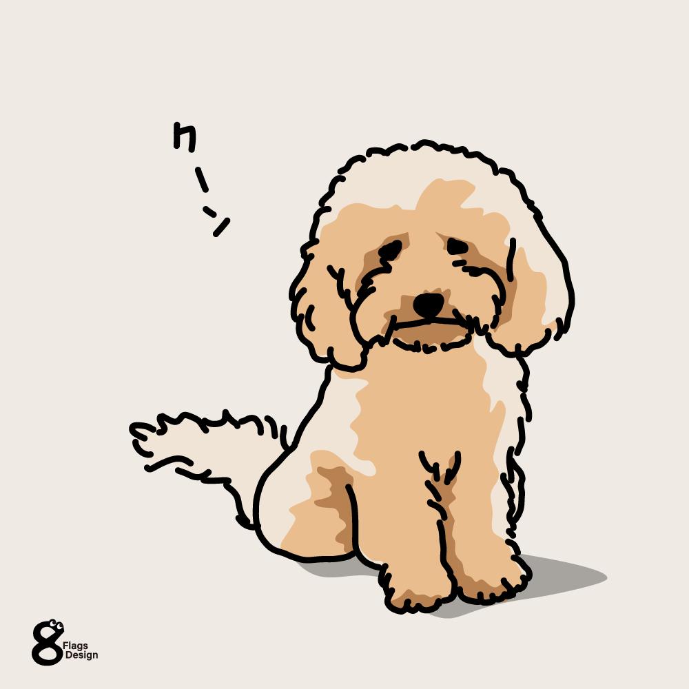 構って欲しいムク犬のキャッチ画像