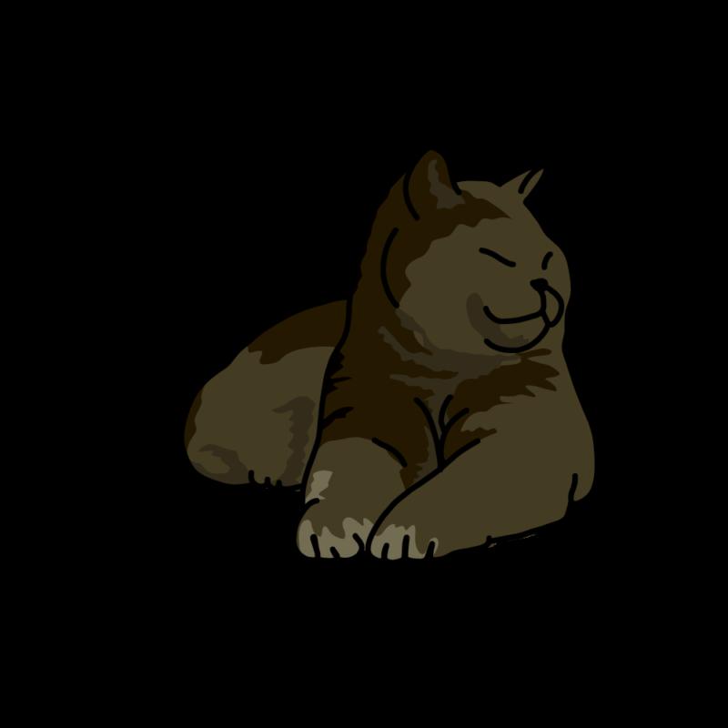 日向ぼっこのネコ黒