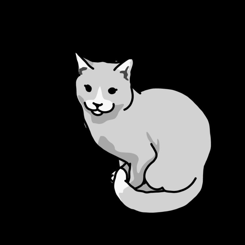 寒がりネコさんグレー