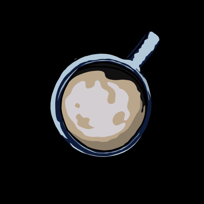 上から見たコーヒーブルー