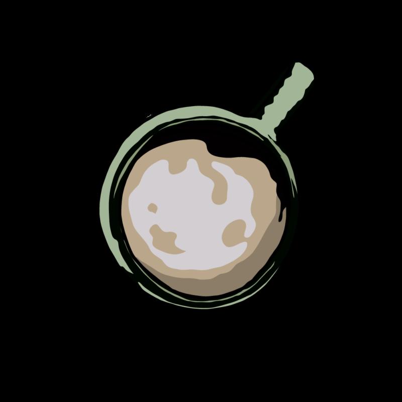 上から見たコーヒーグリーン