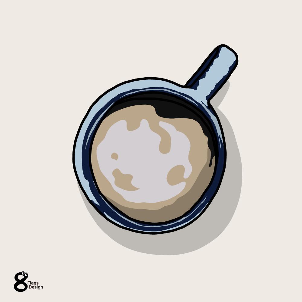 上から見たコーヒーのキャッチ画像