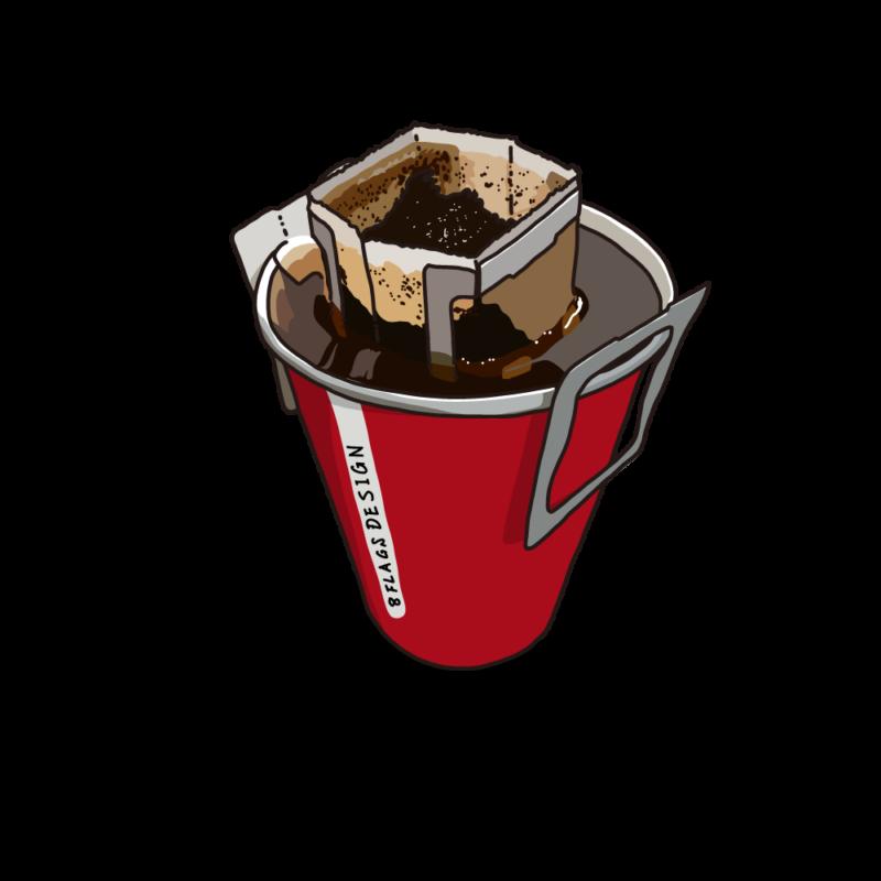 ドリップコーヒー赤