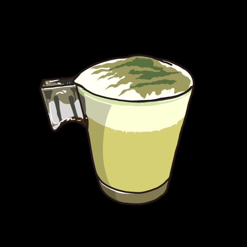 カフェラテ(グラス)抹茶