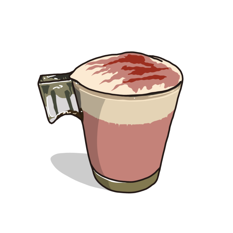 カフェラテ(グラス)ストロベリー