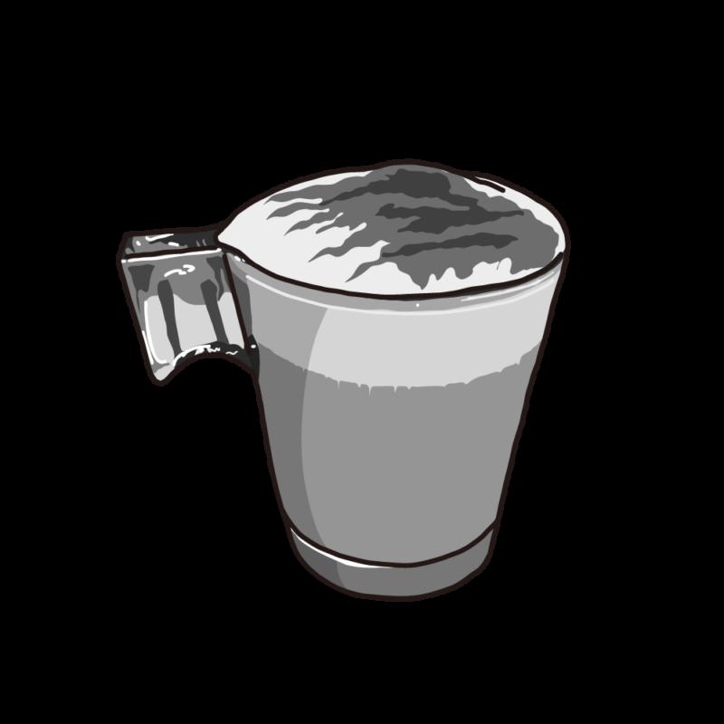 カフェラテ(グラス)グレー