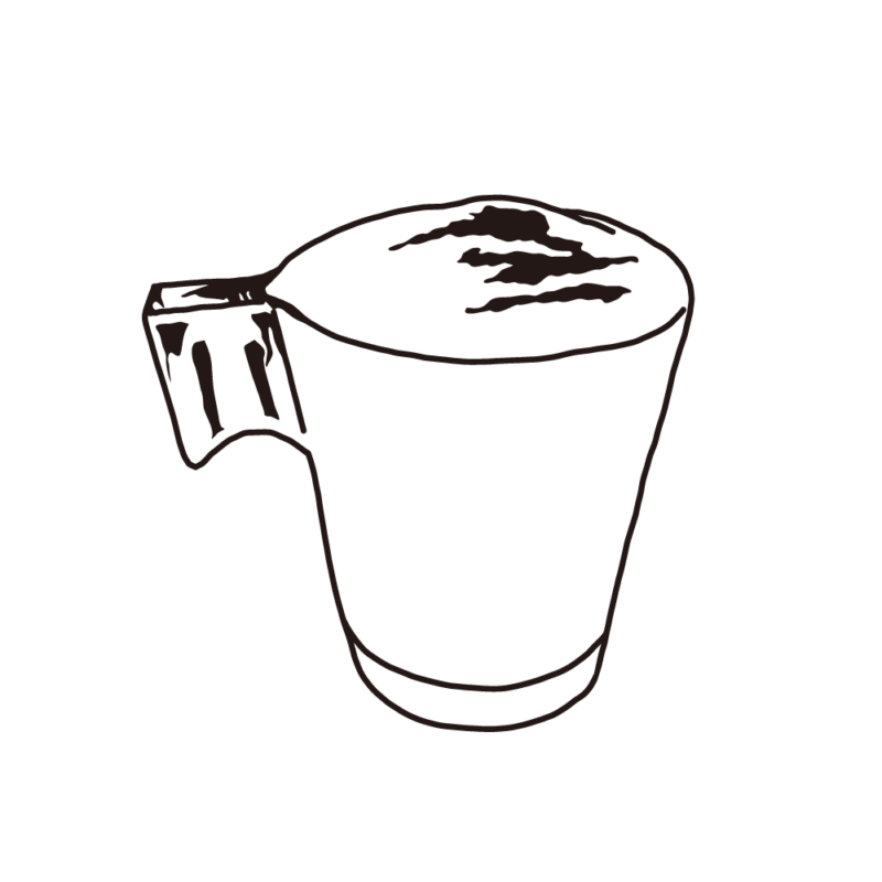 カフェラテ(グラス)ライン