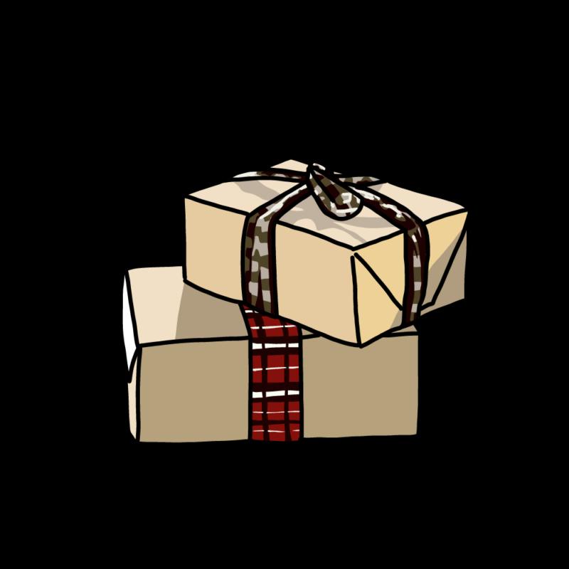 プレゼントボックス(2個)クラフト