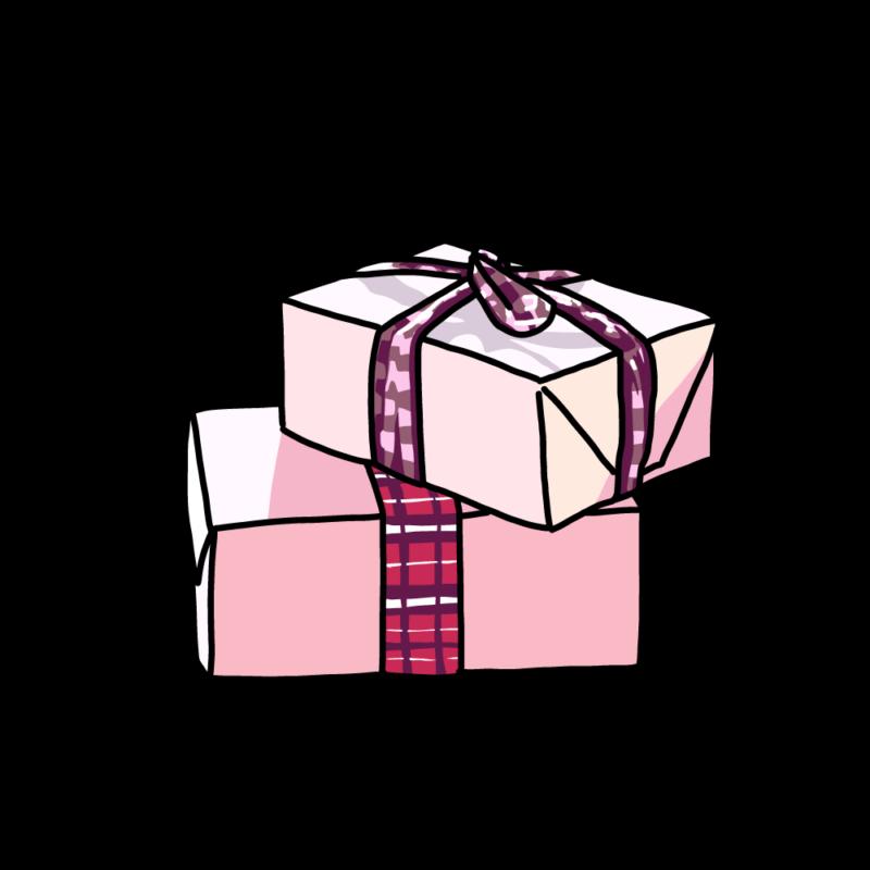 プレゼントボックス(2個)ピンク