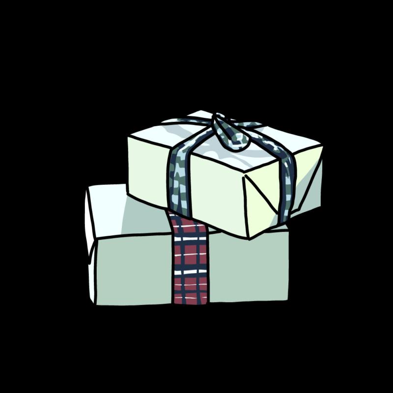 プレゼントボックス(2個)グリーン