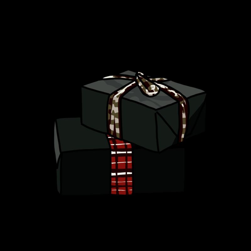 プレゼントボックス(2個)ブラック