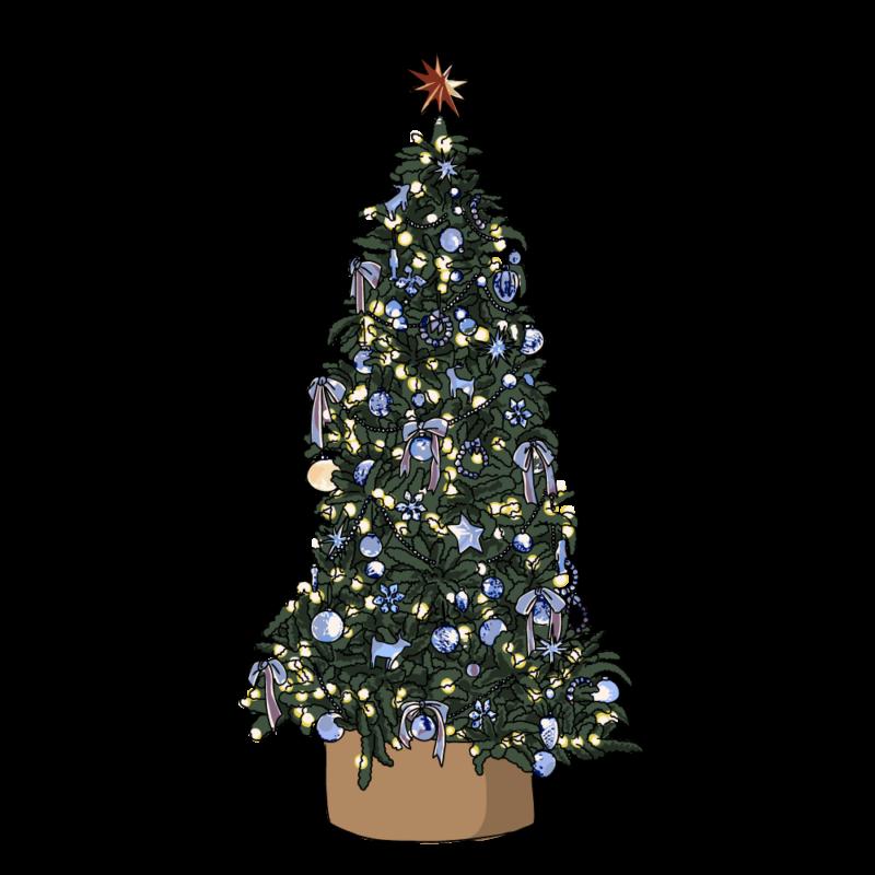 クリスマスツリー(特大)ブルー