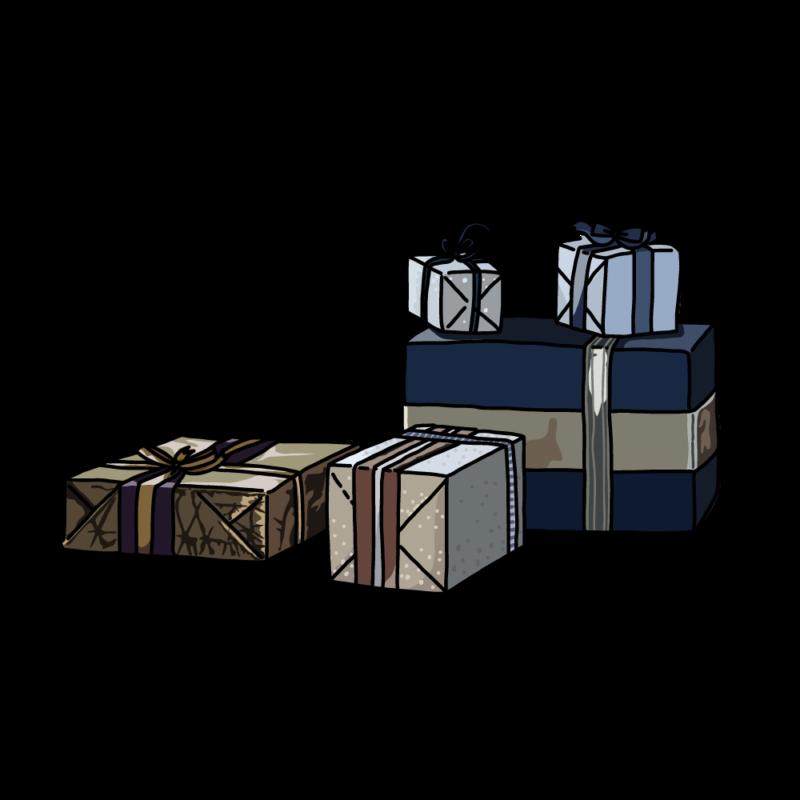 シックなプレゼントボックスノーマル