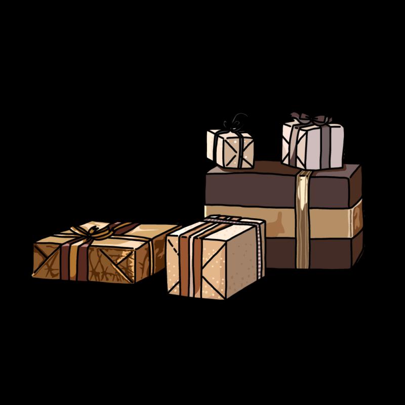 シックなプレゼントボックスコッパー