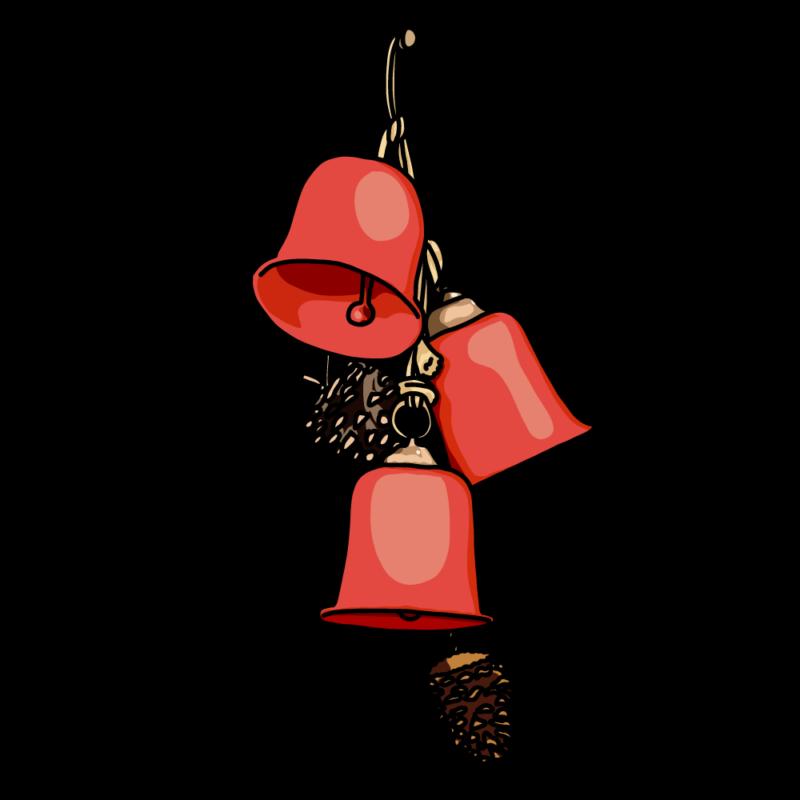 クリスマスのベル赤