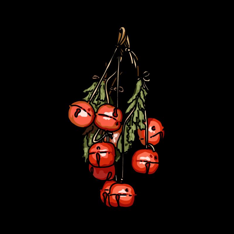 クリスマスの鈴赤
