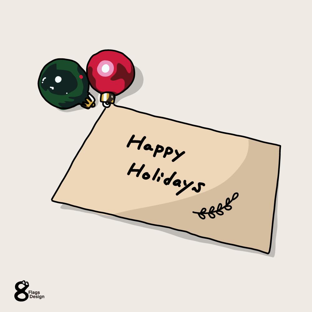 オーナメントとクリスマスカードのキャッチ画像